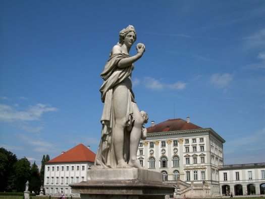Nymphenburg Palace-front ground statue