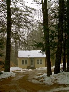 Mansfield Studio in the mist at MacDowell Colony