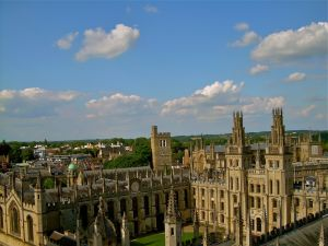All Souls College from Saint Marys Church