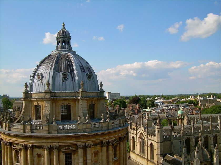 Radcliffe Camera from Saint Marys Church