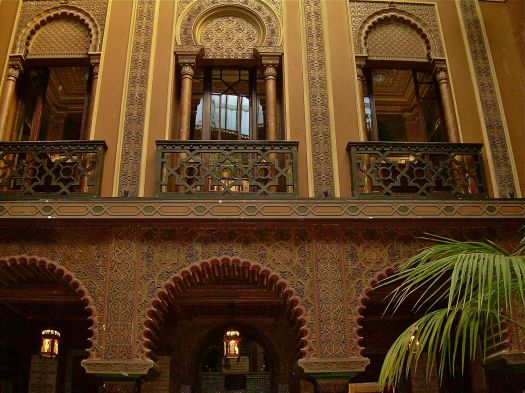A 17th century Moorish palace is now home to a restaurant